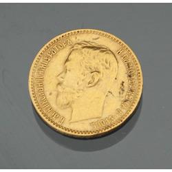 5 rbl, Nikolajs II, 1900.g.
