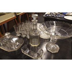 Set of different glassware