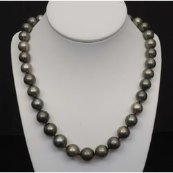 Gray pearl beads