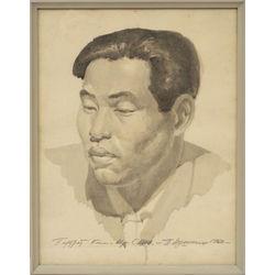 Ziemeļkorejas pirmā prezidenta Kima Irsena portrets