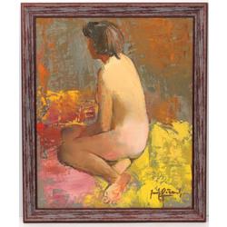 Akts - sēdošā meitene