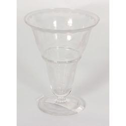 Stikla vāze uz kājas (ir defekts)