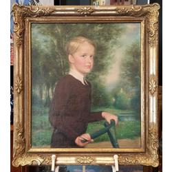 Мальчик в саду