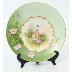 Dekoratīvs porcelāna šķīvis