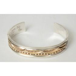 Silver bracelet with gilding