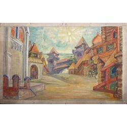 Dekorāciju skice Borodina operai
