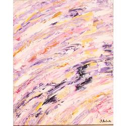 Abstrakta kompozīcija violetos toņos