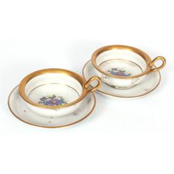 Porcelāna tasīte ar apakštasīti (2 komplekti)