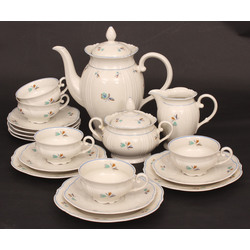 Porcelain set for five persons