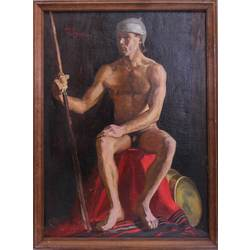 Divpusēja glezna - Vīrieša akts