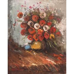 Klusā daba ar ziediem