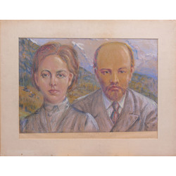 Ļeņins un Krupskaja