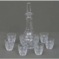 Glass carafe with glasses (6 pcs.)