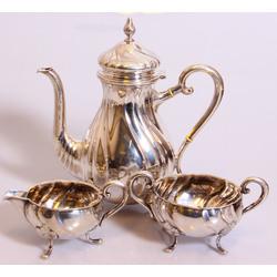 Sudraba trauku komplekts tējai 3 gab.