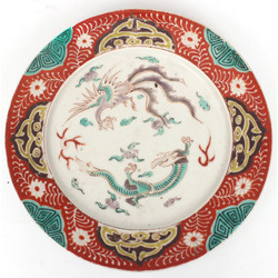Porcelain plate with dragons