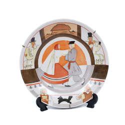 Porcelāna šķīvis ar zīmējumu pēc Romāna Sutas meta