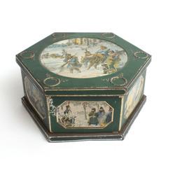 Konfekšu kastīte ar vēsturiskiem skatiem