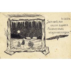 Pastkarte ar dzejoli