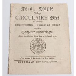 Zviedrijas karaļa Gustava Ādolfa cirkulāra vēstule