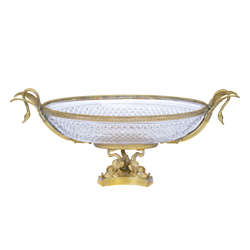 Benito Freres kristāla trauks ar bronzas apdari
