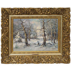 Ziemas vakars mežā