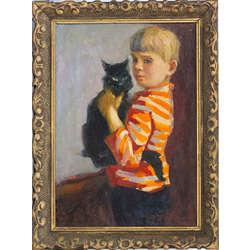 Zēns ar kaķi
