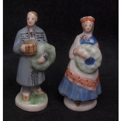 Porcelāna mini figūriņu pāris