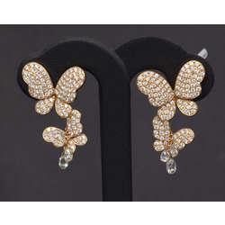 Zelta auskari ar 248 dabīgiem briljantiem