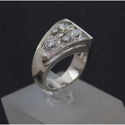 Zelta gredzens mazajam pirkstiņam ar vecā slīpējuma briljantiem