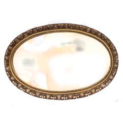 Apzeltīts koka spogulis