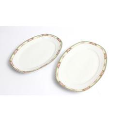 Porcelāna servējamie šķīvji - 2 gab