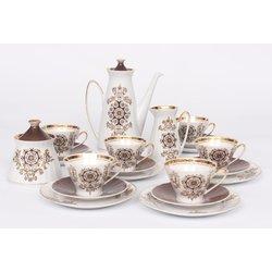 Porcelāna kafijas servīze 6 personām ,,Mokka
