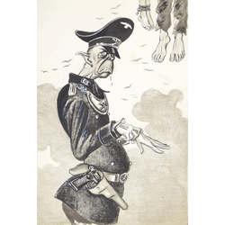 Karikatūra par Vācijas armiju