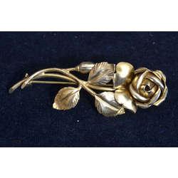 Silver Art Nouveau brooch