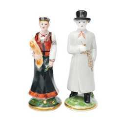 """Porcelāna figūru pāris """"Tautudēls un tautumeita"""""""