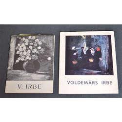 Voldemāra Irbes mākslas darbu izstāžu katalogi ( 2 gab.)