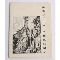 Artura Dubura mākslas darbu atklātnīšu komplekts (16 gab.)