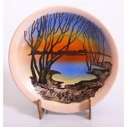 Apgleznots keramikas šķīvis