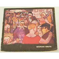 Birutas Baumanes gleznu izstādes katalogs