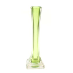 Iļģuciema stikla vāze salātzaļā krāsā