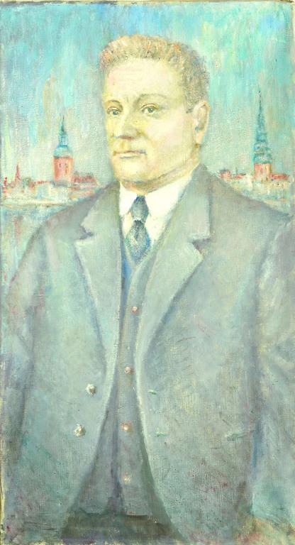 Портрет К. Улманиса