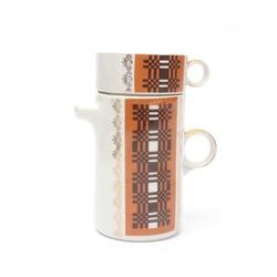 Porcelāna tējas dzeršanas komplekts (Kanna un viena krūzīte)