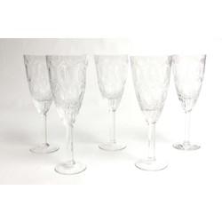 Stikla glāzes uz kājiņas (5 gab.)