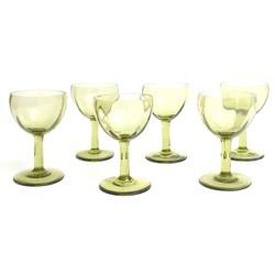 Zaļas krāsas stikla glāzes (6 gab.)