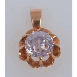 Zelta kulons ar violetu akmeni