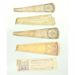 5 aptieku etiķetes (1931-1944)