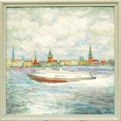 Ātrgaitas kuteris Rīgas ostā