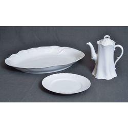 Jūgendstila trauku komplekts - Kanna, servējamais šķīvis un šķīvis
