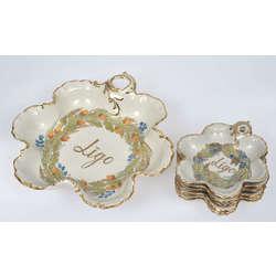 Porcelāna deserta komplekts