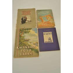 4 dažādas grāmatas